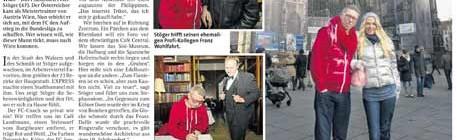 """Foto-Termin mit Peter Stöger für """"Express"""" und """"Kurier"""""""